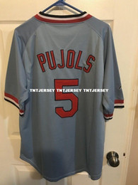 41bf2fcb031d cheap custom ALBERT PUJOLS  5 BLUE JERSEY Stitched Customize any number  name MEN WOMEN YOUTH XS-5XL customized youth baseball jerseys promotion