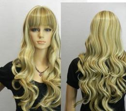 perucas de cabelo rainha Desconto WIG LL rainha das mulheres brasileiras feitas perucas Fibra cabelo moda peruca longa mista loira cacheados fibra perucas