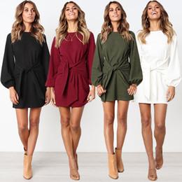 Vestidos de ebay online-El nuevo vestido informal de manga larga de punto de Amazon ebay para otoño e invierno en 2018