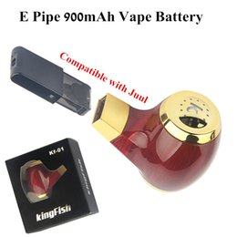 2019 cajas de energía solar Cargador de paso a través del kit KF 01 E Tubo vaporizador Mod USB Batería magnética compatible con JUUL Pods cartuchos vacíos por el ePacket