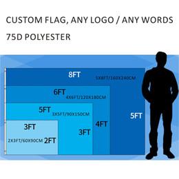 Canada Personnalisé impression numérique 2x3ft / 3x5ft / 4x6ft / 5x8ft N'importe quel logo Livraison gratuite expédition 75D polyester défilé de sport en plein air décoration de la maison drapeaux bannière Offre