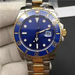 2019 relógio de ouro azul cerâmico de safira 3 cores relógios homens safira azul preto de cerâmica moldura de aço inoxidável de ouro 40mm 116613lb 116618ln 116613 relógio de pulso mecânico automático relógio de ouro azul cerâmico de safira barato