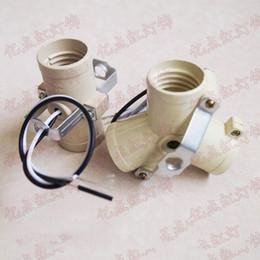 douille de plafonnier Promotion Douille de tête multi E27 à vis avec douille à vis LED E27 avec fil pour lampe de plafond de lustre