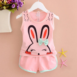 d1d518743783 good quality summer Baby girl Top Short Pants clothes set Cute Rabbit Girls  Clothing vest+shorts baby girl Fashion clothes suits