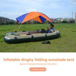 2020 naranja inflable Duradera Naranja Azul Nylon Ropa de cama plegable cama colgante Toldo Sombrilla Carpa va de excursión barco inflable Carpa al aire libre kayak rebajas naranja inflable