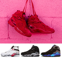 aqua schneiden Rabatt 2019 Lover Valentines Day Red 8 VII 8s Männer Basketball-Schuhe Aqua Chrome COUNTDOWN PACK Herren Outdoor Sports Sneakers 8-13