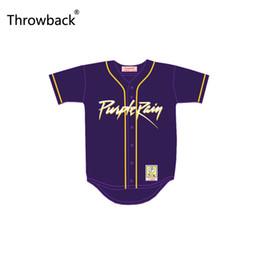 Camiseta de béisbol de costura personalizada online-Prince retroceso tributo lluvia púrpura Jersey de béisbol con el nombre del Patch Custom Stitch cualquier número de películas de New Fast Enviado fábrica al por mayor