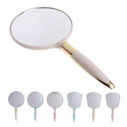 espelhos retrovisores vintage Desconto ABS Espelho de Maquiagem Espelho de Maquiagem Espelho Retrovisor Retro Realista de Plástico Vanity Retângulo Decorador Moda Novo