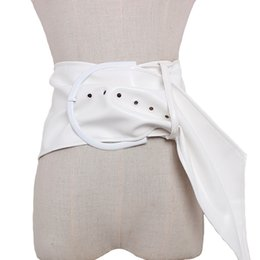 cinturón ancho mujer cuero Rebajas 2019 Big metal leather ladies vintage elegante cinturón ancho faja de cuero all-match cinturones de moda femenina para mujeres accesor