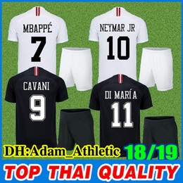 2018 2019 AJ paris soccer jersey mens kit Saint German 7  MBAPPE black  football shirt 9  CAVANI 11  DI MARIA PSG adult football jerseys b079d78e2