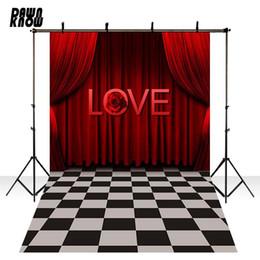 Feliz Amor S tage Vinyl Fotografia Backdrops fundo para recém-nascido Red fundo da foto para a foto de casamento estúdio Personalizar CM6115 de