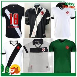 2020 jersey de brasil negro Camisa 19 20 Brasil Vasco da Gama de fútbol jerseys MAXI RIOS PAULINHO FABIANO MURIQ personalizado 2019 2020 Inicio Negro Blanco Fútbol jersey de brasil negro baratos