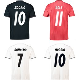 49da29e074 baby girl designer clothes 18 19 kids Soccer Jerseys RONALDO BENZEMA MODRIC  BALE Football jersey boy adult Maillot De Foot