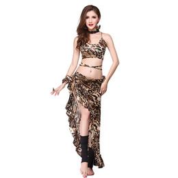 Canada Femmes Bellydance Costume Set Sexy Imprimé Léopard Bollywood Danse Du Vêtement Vêtements Gypsy Vêtements Oriental Exotique Dancewear DC1794 supplier sexy woman gypsy Offre