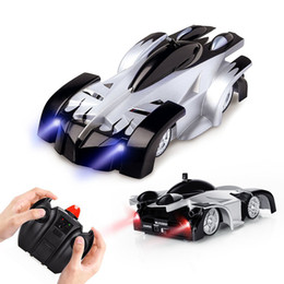 rc toy racing Coupons - RC Climbing Wall Car Remote Control Car Stunt Climber Sport Racing Cars Gravity Electric Toys 2.5G Four-way remote