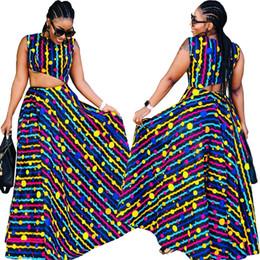 f53e22a8c0ea 2019 New African Stampa Bazin Elastico Pantaloni Larghi Rock Style Dashiki  SLeeve Famoso Vestito Per Lady   donne cappotto e DRESS2pcs   se economico  abiti ...