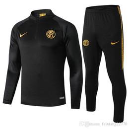 Vestes de costume à manches courtes hommes en Ligne-2020 Inter Milan hommes de football Veste Survetement de football Italie BELOTTI Polo à manches courtes BUFFON kits veste de costume de formation Verratti trac