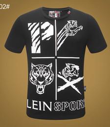 ropa de verano punk Rebajas 100% algodón marca cráneo camiseta para hombre ropa de lujo de verano de manga corta hip hop tops camiseta hombre Moda Punk diseñador camiseta Asia Tamaño M-3XL