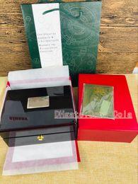 Montre homme bois noir en Ligne-Montre de luxe BOXES pour 15400 Marque Royal Oak Hommes Montres NOIR Original Véritable Bois Coffret Cadeau Papier Fit boîte de montre MONTRE BOX BOÎTE SUISSE
