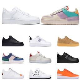 sapatos de borracha para mulheres china Desconto nike air force 1 2019 Homens Utilitário Clássico Preto Branco Mulheres Sapatos Casuais vermelho de Skate de Alta Low Cut treinador de Trigo Sports Sneaker tamanho Plataforma 36-45