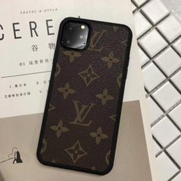 2019 fundas para celulares lenovo Diseño de lujo casos de teléfono para iPhone 11 Pro Max 6 7 8plus XS XR cuero de la PU cubierta de la protección del teléfono móvil clásico de la manera borde suave