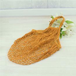Hot New Women Cotton Mesh Net Bolso de bandolera Durable, ligero, Bolsa de compras, Juguete, Niños, Almacenamiento de frutas, Bolso de playa desde fabricantes