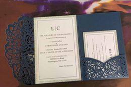 Hacer tarjetas de invitación online-Real Made Invitation Fashion Laser Cut Invitación Suites, 2019 Personalización de la boda invita a tarjetas tridimensionales para invitaciones