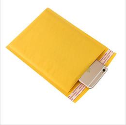 2019 envío de correo urgente Bolsas de correo Sobres para ventanas Bolsa a prueba de humedad Papel Kraft de alta calidad Auto sellado Amarillo Caída inmóvil Envío
