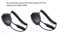 2019 microfone falante walkie talkie 2 pcs Handheld Microfone Alto-falante à prova d 'água para BAOFENG UV-9R além de Walkie Talkie Microfone PPT Baofeng BF-A58 uv9R além de BF-9700 microfone falante walkie talkie barato
