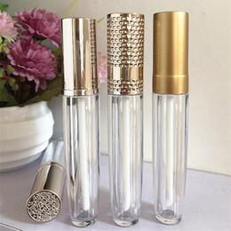 dekorierte plastikflaschen Rabatt 5 ml Kunststoff Leere Lipgloss Flasche Diy Kosmetische Lipgloss Tube Wimpern Wachstum Ölbehälter Mehrwegflasche Großhandel