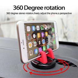 Soporte móvil online-Universal de 360 Grados Soporte para Coche Tablero de Control Pegado Real 3M Soporte para Soporte de Teléfono Móvil Soporte Para Menos de 6 pulgadas Soporte de Escritorio para Teléfono