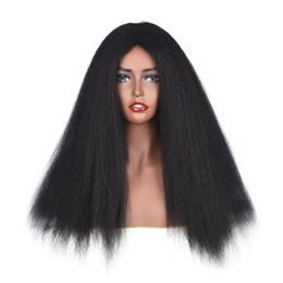 Canada Yaki Non Dentelle Perruques Synthétiques De Cheveux Pour Les Femmes Noires Kinky Straight Lace Front Perruques Brésiliens Non Remy Pré Plucked Blanchi Noeuds Offre