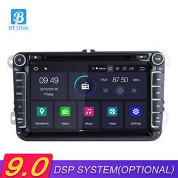 2019 polo android Besina Android 9.0 Radio de Coche Para VW Passat B6 CC b7 Polo Golf Tiguan Octavia Reproductor Multimedia Navegación GPS WIFI polo android baratos