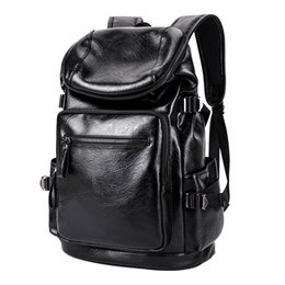 south korean style backpacks Promo Codes - Spring hot new men's college style backpack south Korean version of schoolbag leather travel backpack fashion bags