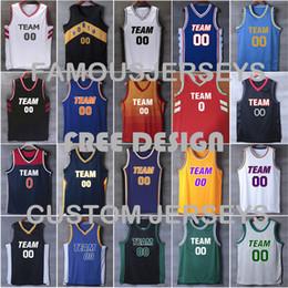 camisas feitas sob encomenda livres Desconto Todos os costurados um +++ jerseys de basquete personalizado dos homens do jogador bordado premier jersey clássico game jerseys camisa de design livre XXS-6XL