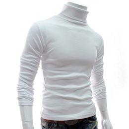 2019 marques de tricots pour hommes Nouveau Automne Hommes Pulls Casual Homme Col Roulé Noir Homme Solid Solid Knitwear Slim Marque Vêtements Pull promotion marques de tricots pour hommes