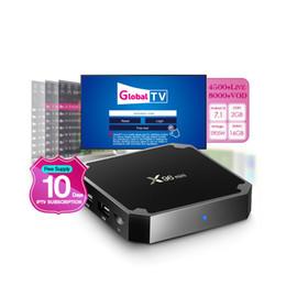 canais iptv caixa livre Desconto X96 mini Android 7.1 caixa de TV OTT Amlogic S905W Quad Core 2 GB 16 GB Suporte de Mídia Inteligente Suporte Grátis IPTV Assinatura 4500 + Canais de TV Ao Vivo