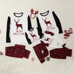 pijamas de natal para crianças 3t Desconto Mãe e filha roupas família Matching Natal Pijamas Crianças Meninos Meninas do Natal Define roupa da criança mulheres homens Início roupas QZZW126