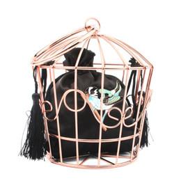 модные сумочки bird Скидка 2019 Женская мода Birdcage мешок вечера сцепления металла пяльцы Bucket Bird Cage Мини-кошелек Женщины кисточкой сумки