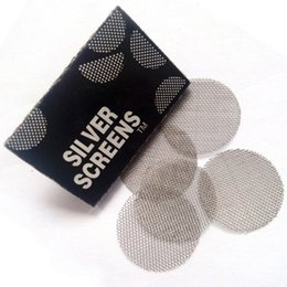 filter screens Promo Codes - 500PCS Smoking Pipe Accessories stainless Screens Metal Filters Diameter 20mm for Glass Dry Herb Bowl Holder Tobacco Pipe Tools Accessories