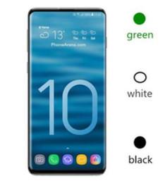 teléfonos celulares de pantalla grande Rebajas Goophone S10 Plus 6.3 pulgadas MTK6580 desbloqueado teléfono celular Quad Core Android 1G Ram 8G Rom teléfono falso 4G 1pcs DHL