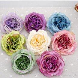 Capi di fiore artificiali all'ingrosso Fiori finti della rosa della cameliaArtificiale per la festa nuziale Decorazione domestica Fotografia Decorazioni Fiori Fai da te da