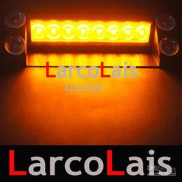 12v levou a luz de traço âmbar Desconto LarcoLais 8 LED de Alta Potência Luzes Estroboscópicas Bombeiro Piscando Aviso de Emergência Carro de Bombeiros Do Motor Do Caminhão de Luz