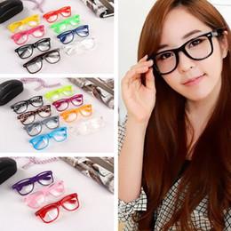 Unisex geek brille online-Vollformat Unisex Optische Brille Retro Rivet Sonnenbrille Punk Geek Style Klare Linse Brille Bonbonfarben Rahmen Brillen TTA1034