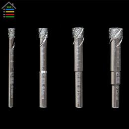 trapano per vetro AUTOTOOLHOME 6 8 10 12 mm Diamante durevole rivestito con punta di trapano per foratura a secco per vetro marmo granito quarzo da