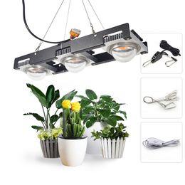 il potere fiorito ha portato le luci Sconti COB LED Grow Light Spettro completo Potenza reale 50W 100W 150W 200W LED Pianta Grow Lampada per piante da interno Veg Fioritura Stage