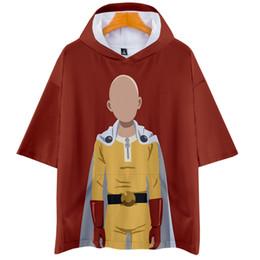 Um homem soco on-line-One Punch Man Season 2 3D Impresso Com Capuz Camisetas Mulheres / Homens Moda Verão de Manga Curta Tshirts 2019 Casaul Streetwear camiseta