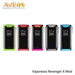 Argentina Vaporesso Revenger X Vape Box Mod 220 w Pantalla táctil ajustada NRG Actualización del tanque Vaporesso Tarot Nano Starter Kit cheap touch screen vape mod Suministro