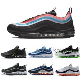 Compre Nike Air Max 97 Barato Have A Nice Day Hombre Mujer Zapatos Para Correr Negro UL Dallas Laser Naranja Neon Seoul Para Hombre Panda Pigeon