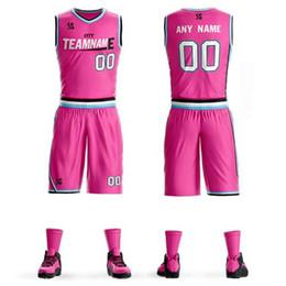 Camisetas de baloncesto juvenil barato online-Personalizar camisetas de baloncesto para niños Adultos College Equipo de baloncesto Jerseys jerseys deportivos conjuntos de baloncesto ropa envío gratis barato